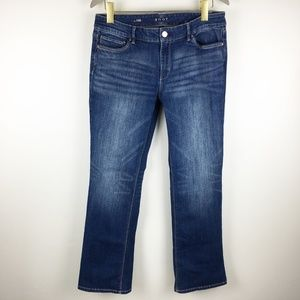 WHBM Distressed The Boot Jean Medium Wash Size 10P